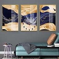 Tranh treo tường, tranh đồng hồ NT209 bộ 3 tấm ghép thumbnail