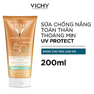 Kem Chống Nắng Toàn Thân Vichy Dạng Gel Sữa Không Gây Nhờn Rít Capital Soleil Wet Skin Gel SPF 50+++ 200ml thumbnail