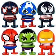 Set 6 thú nhún Emoji lò xo siêu anh hùng thumbnail