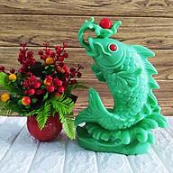 Cá chép nhả Ngọc Châu xanh ngọc phong thủy đại cát - CCXD34 thumbnail