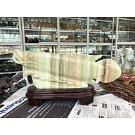 Tượng Cá Rồng phong thủy tài lộc đá ngọc Onyx - Dài 39 cm thumbnail
