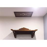 Bàn thờ treo tường gỗ sồi, combo cả bộ tặng tấm ám khói. thumbnail