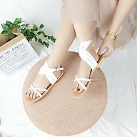 Sandal nữ đế bằng quai chéo phong cách hiện đại đi chơi đi biển thumbnail