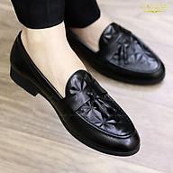 Giày Lười Da Bóng Nam Giá Rẻ -Tăng Chiều Cao 3cm - Mã g012 Chuông Màu Đen - Hàng VN thumbnail