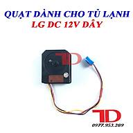 Quạt dành cho tủ lạnh LG DC 12V 4 dây thumbnail