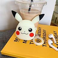 Case silicon bảo vệ hộp đựng tai nghe bluetooth phụ kiện iphone không dây Airpods 1 2 mẫu Pikachu thumbnail