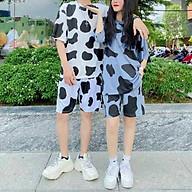 Bộ đồ Bò Sữa nam nữ Như Hình, Set bộ bò sữa unisex, sét bộ bò sữa áo tay ngắn quần đùi siêu đẹp, SET BỘ ĐỒ NỮ KIỂU BÒ SỮA ( ÁO+QUẦN ) THUN COTTON HOT TREND 2021 ( 3 MÀU HỒNG,XÁM,TRẮNG ) thumbnail