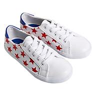 Giày Sneaker Buộc Dây Bé Gái Urban UG1609W Trắng In Sao thumbnail