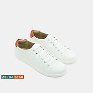 Giày Sneaker Nữ Trắng Cao Cấp Zelda Star Phối Màu Viền Gót Phong Cách - BA0331220 thumbnail