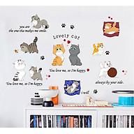 Decal dán tường mèo thumbnail