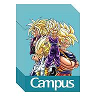 Lốc 10 Cuốn Vở Kẻ Ngang B5 Có Chấm Campus - NB-BDBA80 - ĐL 70 (80 Trang) - Mẫu Ngẫu Nhiên thumbnail