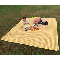 Thảm chống thấm họa tiết kẻ caro xinh xắn thích hợp cho các cuộc picnic (tặng kèm túi đựng chống thấm có thể dùng riêng) thumbnail