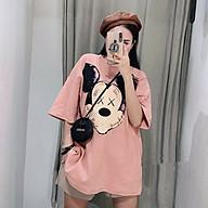 Áo thun nữ form rộng in hình Micky xinh xắn, form unisex siêu xinh thumbnail