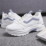 Giày nữ trắng Hàn Quốc độn đế 6cm, Giày thể thao nữ loại cao cấp, chống hôi chân (Tặng đôi tất sịn trị giá 35k) thumbnail