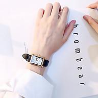 Đồng hồ thời trang nữ Huans Hmv1, mặt chữ nhật dây da thumbnail