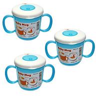 Bộ 3 cốc tập uống có tay cầm màu xanh dương thumbnail