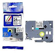[Set 5 cuộn] Nhãn in TZ2-251 tiêu chuẩn - Chữ đen trên nền trắng 24mm ( Hàng nhập khẩu) thumbnail