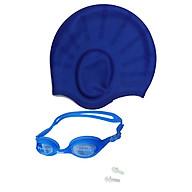Combo nón bơi mũ bơi che tai CQ + Kính bơi Phonex 207 kèm bịt tai (Giao màu ngẫu nhiên) thumbnail