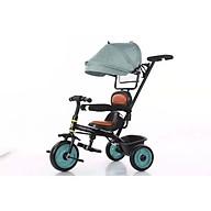 Xe 3 bánh tập đi cho bé có cần đẩy và mái che hàng cao cấp_XE51 (Giao màu ngẫu nhiên) thumbnail