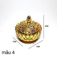 (MUA NHIỀU GIẢM GIÁ)LƯ XÔNG TRẦM HỢP KIM MINI SEN CHẠM NHỎ tặng 3 nụ trầm CAO 5CM thumbnail