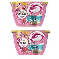 Combo 2 hộp 18 viên nước giặt xả hương hoa màu hồng nội địa Nhật Bản thumbnail