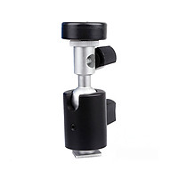 Camera Speedlite Support Stand Speed Light Mount Bracket C-type with Ball Head 1 4 3 8 Thread with Umbrella Holder thumbnail