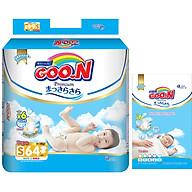 Tã Dán Goo.n Premium Gói Cực Đại S64 (64 Miếng) - Tặng thêm 8 miếng cùng size thumbnail