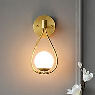 Đèn gắn tường trang trí hiện đại cao cấp thân vàng thả quả cầu hình vợt cầu lông thumbnail