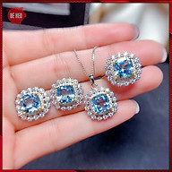 Bộ trang sức nữ nạm đá zircon cao cấp - Tặng hộp và quà - Trang sức Bé Heo BHB181 thumbnail