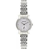 Đồng hồ Neos N-30894L nữ dây thép bạc thumbnail