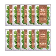 10 Mặt Nạ Tony Moly Fresh To Go Mask Sheet (10 x 22g) - Aloe Chiết xuất từ lô hội làm dịu nhẹ cho làn da bị tổn thương, bổ sung độ ẩm cho da khỏe và mềm mại thumbnail