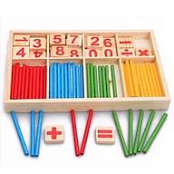 Bộ que tính cho bé học toán bằng gỗ - kèm số và phép tính - đồ chơi thumbnail