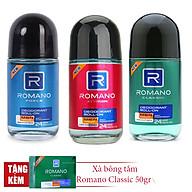 Combo 3 lăn khử mùi Romano 50ml Classic +Attitide + Froce +Tặng 1 xà bông tắm 50gr thumbnail
