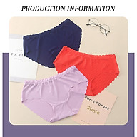 Combo 3 quần lót không viền chất liệu lụa siêu thoáng mát và thoải mái (Màu ngẫu nhiên) thumbnail