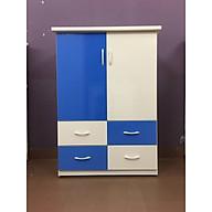 Tủ nhựa trẻ em 2 cánh 4 ngăn kéo - xanh trắng - V024 thumbnail