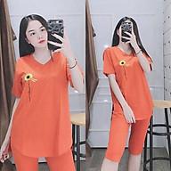 Đồ bộ nữ đẹp, mặc nhà vải cotton quần lửng tay ngắn - Chất liệu thun co giãn 4 chiều thoáng mát A017 thumbnail