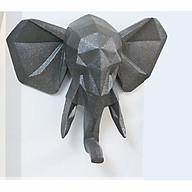 Tượng voi treo tường màu ghi thumbnail