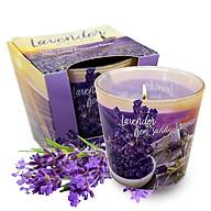 Ly nến thơm tinh dầu Bartek Lavender Fields & Soap 115g QT04965 - cánh đồng oải hương thumbnail