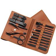 Bộ bao da dụng cụ 16 món cắt móng thumbnail