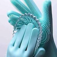 Găng tay Silicon tạo bọt Cao Cấp dùng để chùi rửa Bát đĩa đa năng (Màu ngẫu nhiên) thumbnail