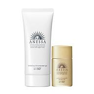 Bộ đôi Kem chống nắng dưỡng trắng dạng gel Anessa Whitening UV Sunscreen Gel 90g + Kem chống nắng dưỡng da dạng sữa bảo vệ hoàn hảo Anessa Perfect UV Sunscreen Skincare Milk SPF 50+ PA++++ 20ml thumbnail