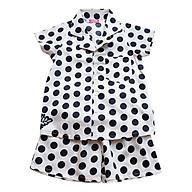 Pyjama Bé Gái Bi Trắng Đen CucKeo Kids T71928 thumbnail
