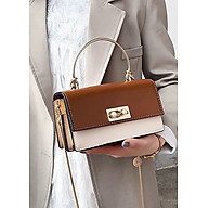 Túi xách tay đeo chéo nữ thời trang T51 Tay quai tròn khóa gài Kích cỡ 21x12x7 cm thumbnail