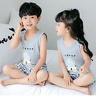 Bộ đồ cho bé trai hình thú chất liệu thun cotton tháng mát 104-Trai thumbnail