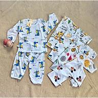 5 Bộ cotton giấy dài tay khuy vai cho bé yêu thumbnail