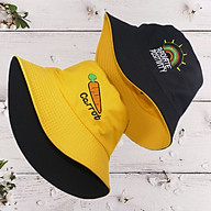 Mũ bucket thêu hình Carrot và Cầu Vồng đẹp mắt, đội được 2 mặt với 2 màu khác nhau, dành cho nam và nữ đội đi chơi, đi học, đi làm thumbnail