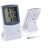 Dụng cụ đo nhiệt độ, độ ẩm ( 2 cảm biến nhiệt độ đo được nhiệt độ 2 nơi cùng 1 lúc) thumbnail