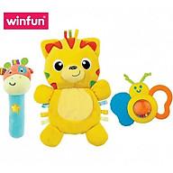 Set 3 đồ chơi cầm tay xúc xắc chíp chíp WINFUN 3027 - gặm nướu hổ gặm nướu sột soạt - BPA free thumbnail