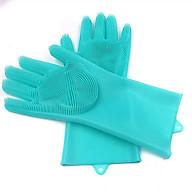 Găng tay silicon chùi rửa đa năng sạch hiệu quả và tối ưu vết bẩn - hàng cao cấp (giao màu ngẫu nhiên) thumbnail