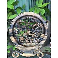 Tranh đĩa Tứ Linh gỗ Mun Hoa hàng đục tay cực kì tinh xảo, sắc nét ( Đĩa 30cm) thumbnail